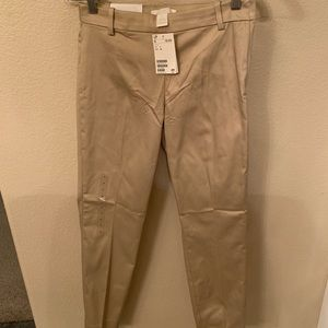 H&M High Rise cropped beige pants new with tag